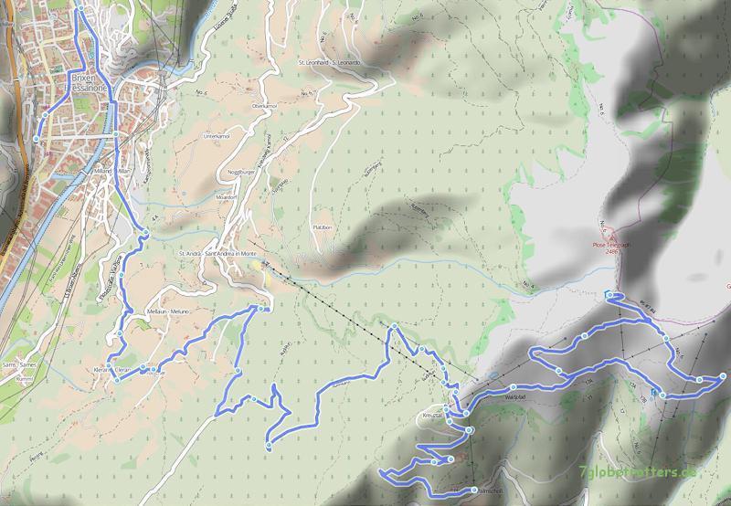 0510 Palmschoss - Plose - Brixen, 30 km