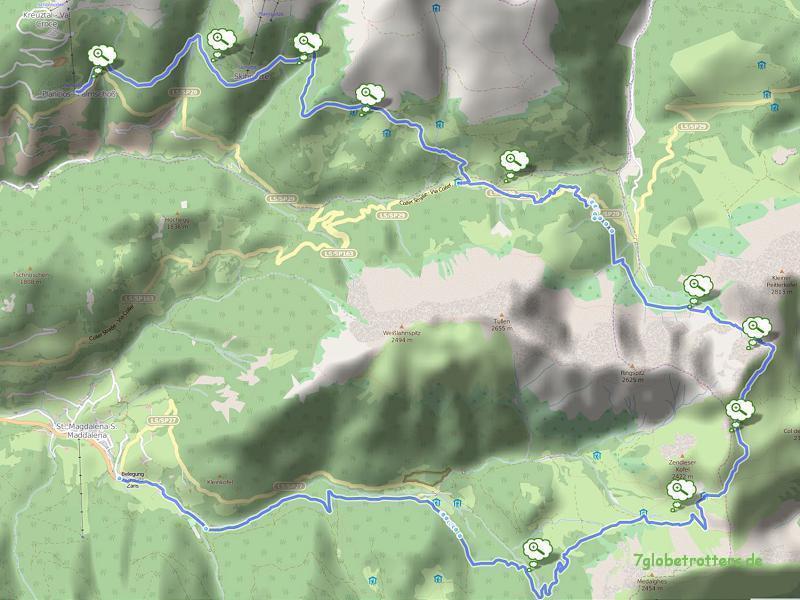 061020 Palmschoss - Peitlerscharte - Schlüterhütte - St. Magdalena 25 km