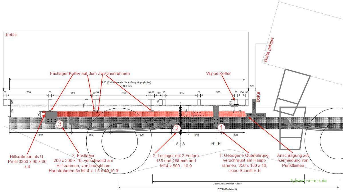 ᐅ Konstruktion und Bau von LKW-Hilfsrahmen mit Federlagerung ...