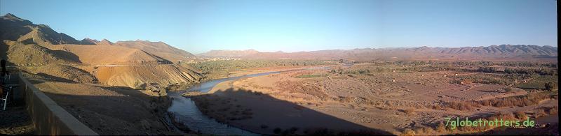 Abend im Draa-Tal bei Jbel Azlag, Marokko