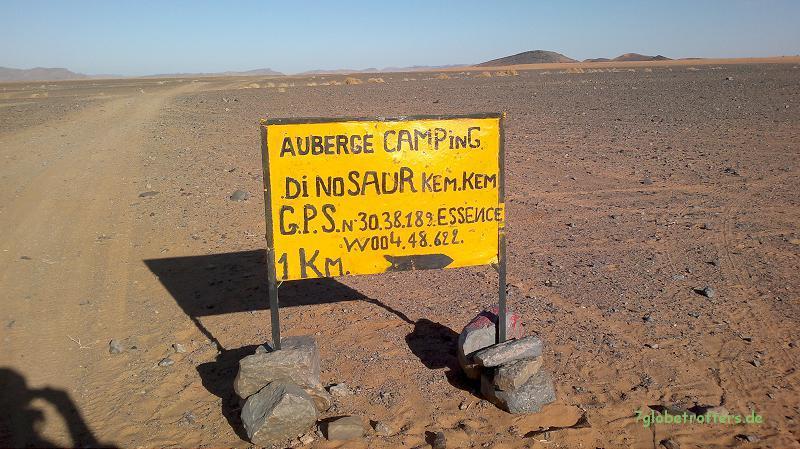 GPS-Daten der Auberge Dinosaur in der KemKem (mit Benzinversorgung)