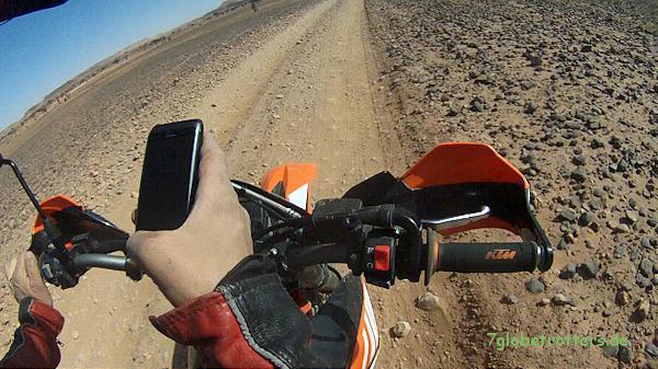 """GPS-Check und """"Wander""""-Navigation mit Apemap und dem Nokia E7, Marokko 2013"""