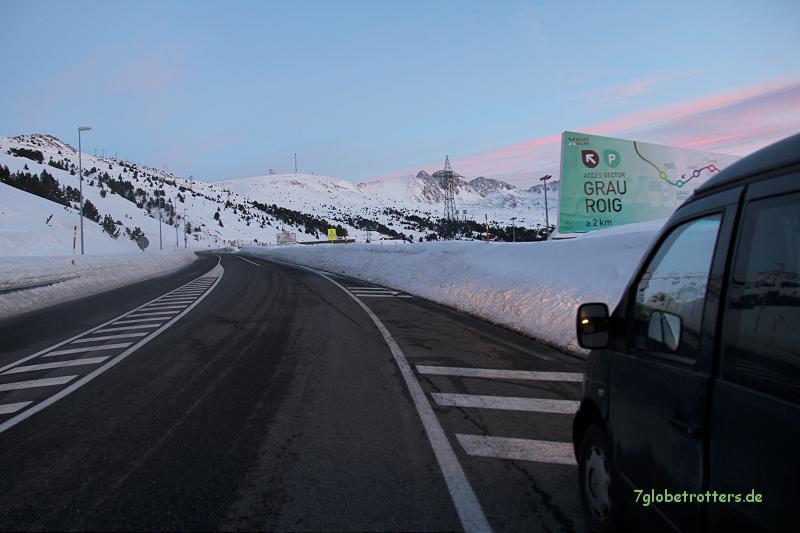 Sonnenuntergang in Andorra