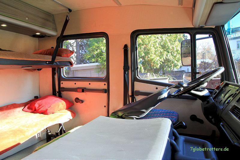 Ausbau der Doppelkabine des Expeditionsfahrzeugs zum Kinderzimmer