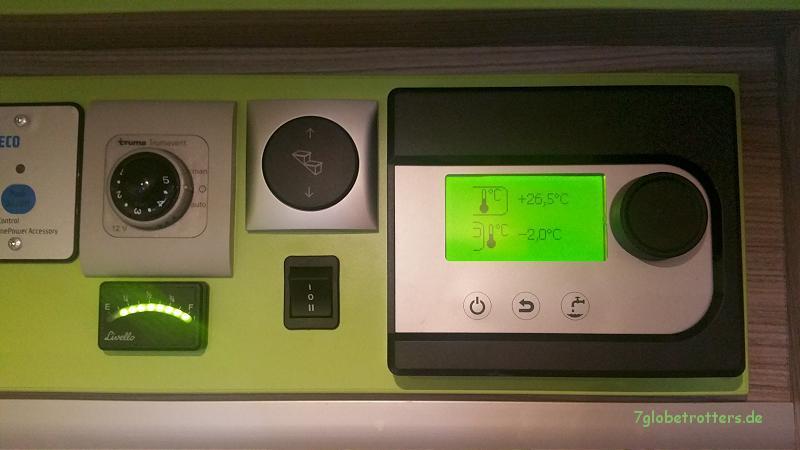 Erfahrungen mit der Truma S 3004 im Winterbetrieb: 26,5°C Innentemperatur
