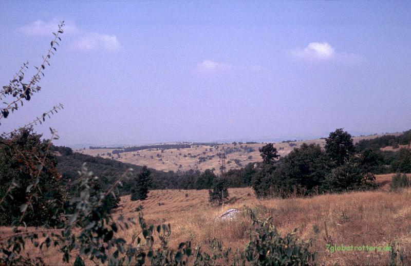 Typisches Mittelgebirge in Bulgarien, kurz vor den Rhodopen