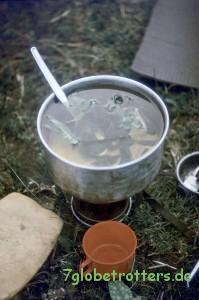 Tee auf dem Juwel 34 kochen