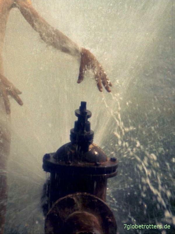 Dusche im Weinberg hinter Haskovo, Bulgarien