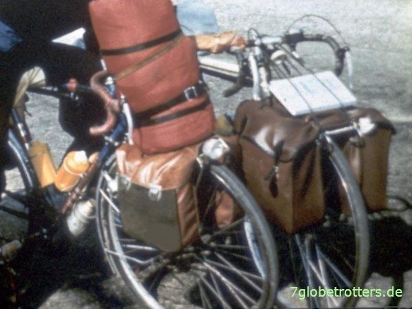Unsere zu Reiserädern umgebauten Diamant-Rennräder