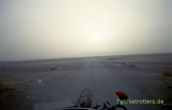 Staubsturm in der Wüste