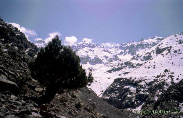Schnee im Hohen Atlas