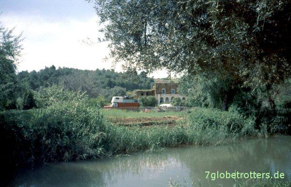 Magirus Mercur Wohnmobil auf dem Campingplatz von Ouzoud