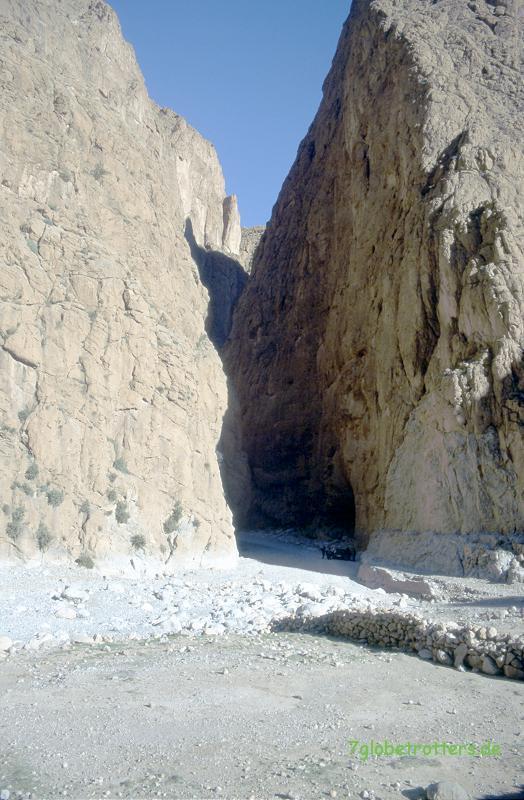 Die noch unverbaute Todraschlucht / Gorges du Todra in Marokko
