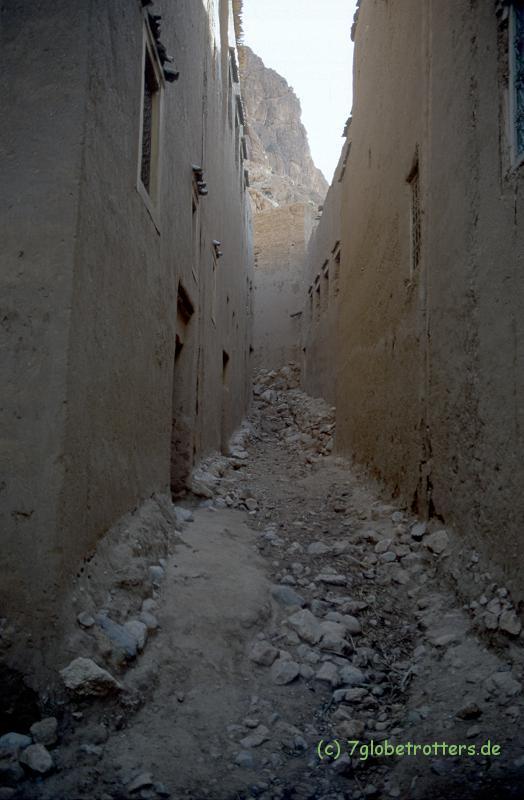 Lehmhütten im alten Tinerhir, Marokko