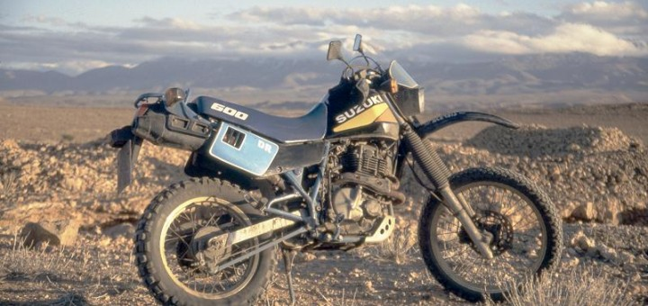 Suzuki DR 600 in Marokko