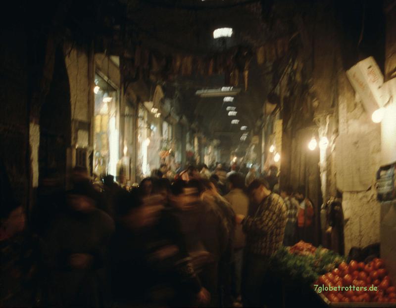 Im Souk von Aleppo