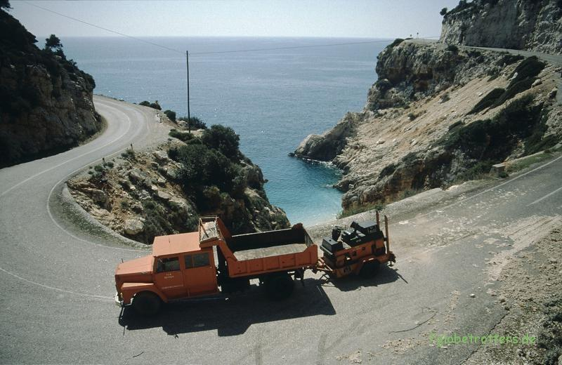 Küstenstraße in der Türkei