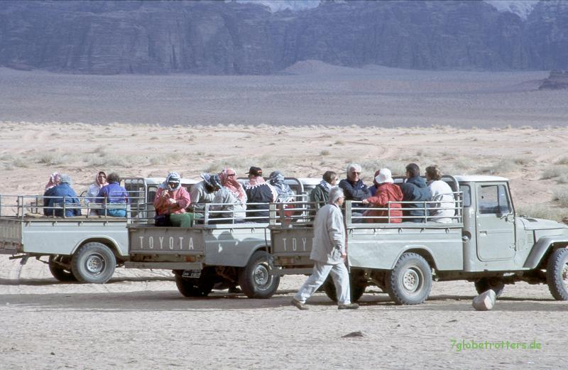 Jeepsafaris im Wadi Rum