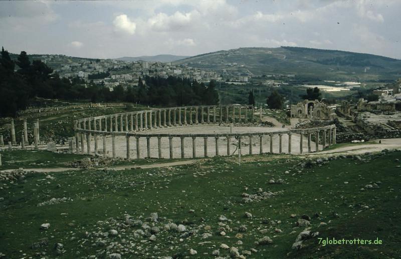 Römische Ruinen in Jordanien: Garash, Forum Maximum