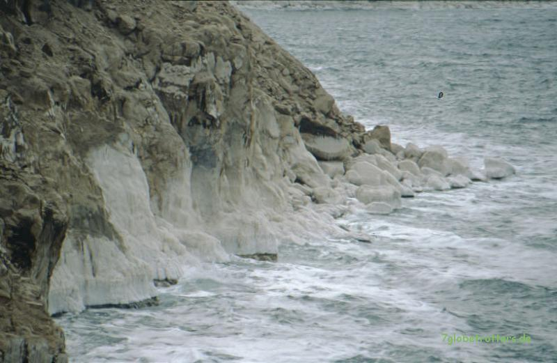 Salzkruste am Toten Meer