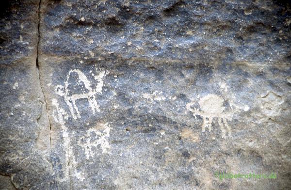 Felszeichnungen im Wadi Rum