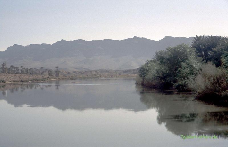 Der Oued Draa nördlich von Zagora