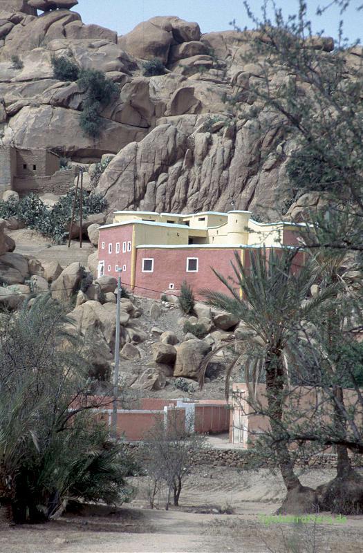 Häuser in Tafraoute, Marokko