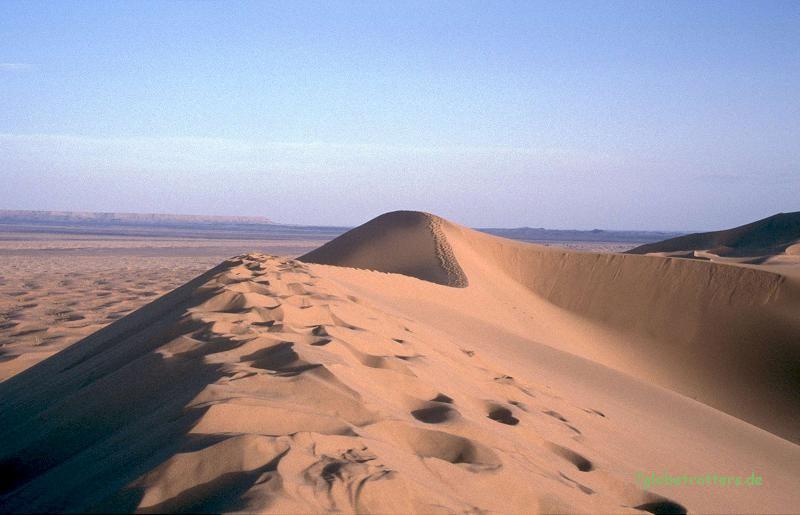 Die Dünen sind bis zu 150 m hoch