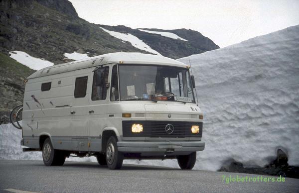 Mit dem MB 508 D in Norwegen, wieder ohne Allrad