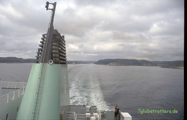 Abschied von Norwegen: Fähre von Egersund nach Hanstholm