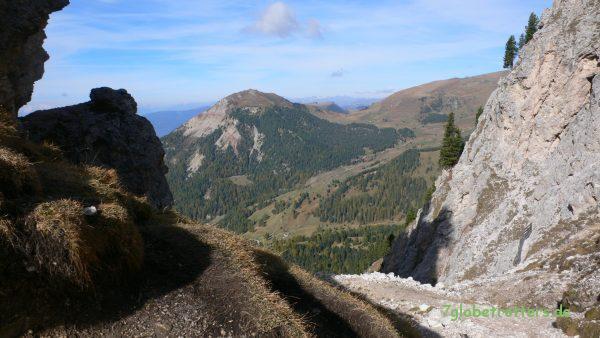 Abstieg nach Wolkenstein