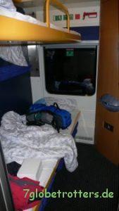 Schlafwagenabteil