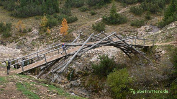 Brücke am Fuß des Schlern