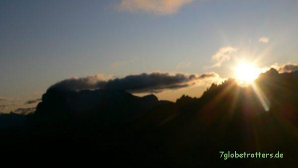 Sonnenaufgang am Schlernhaus