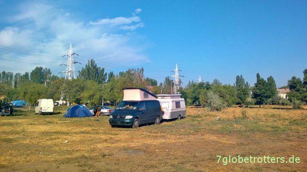 Etwas schlammiger Campingplatz Odessa