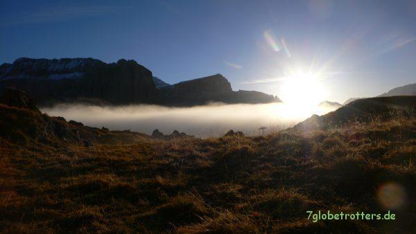 Sonnenaufgang vor der Sellagruppe