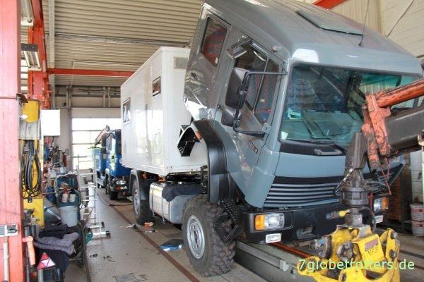 Zwischenstand des Umbaus zum Expeditionsmobil 10 Tage vor der ersten Reise