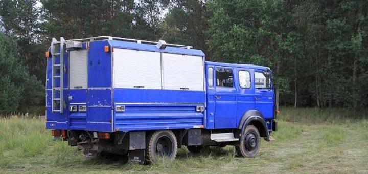 Iveco / Magirus-Deutz 90-16 vom THW als Basis für ein Expeditionsmobil
