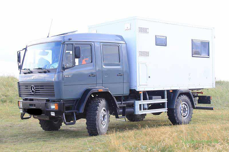 Unser (ehemaliges) Familien-Expeditionsmobil Mercedes LK 1124 AF
