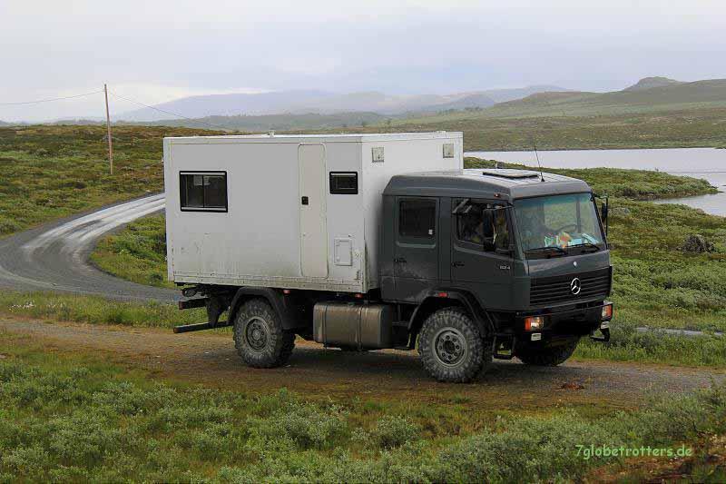 Leben mit 5 Kindern: 10 Tonnen Reisegewicht im Urlaub im norwegischen Hochgebirge mit MB 1124 AF