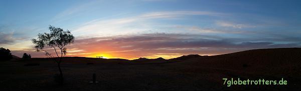 Morgendliches Farbspektakel über den Sanddünen des Erg Chebbi