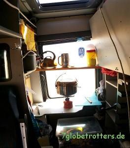 Provisorische Busküche