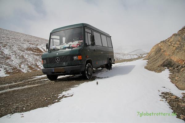 Schnee im Hohen Atlas - Dadespiste