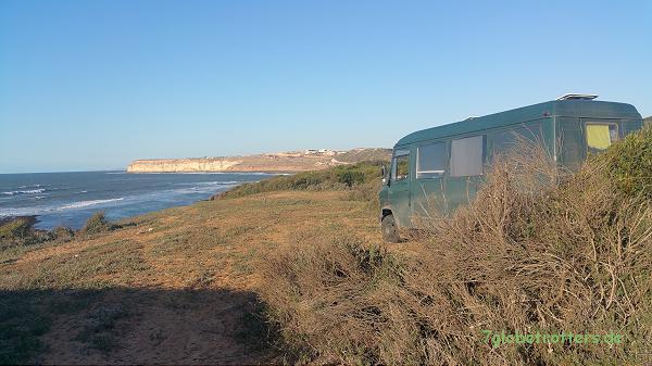 Freier Stellplatz am Atlantik bei Souira, Marokko