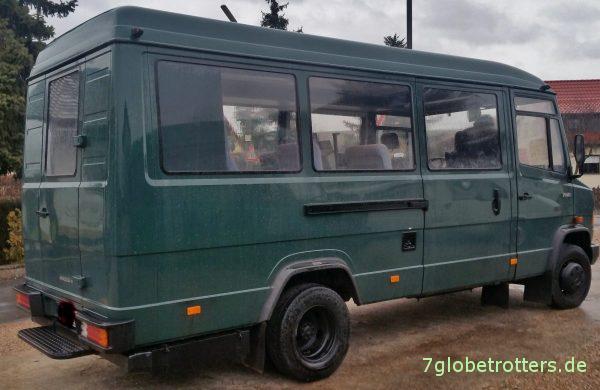 Fahrzeugzustand des gebrauchten Mercedes MB 711 D Fensterbus (BGS) bei Kauf