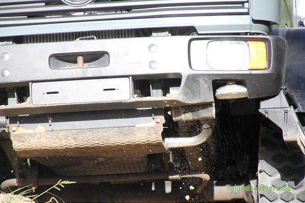 Allrad - LKW im Gelände: Hoffentlich mit einer brauchbaren Aufbaulagerung