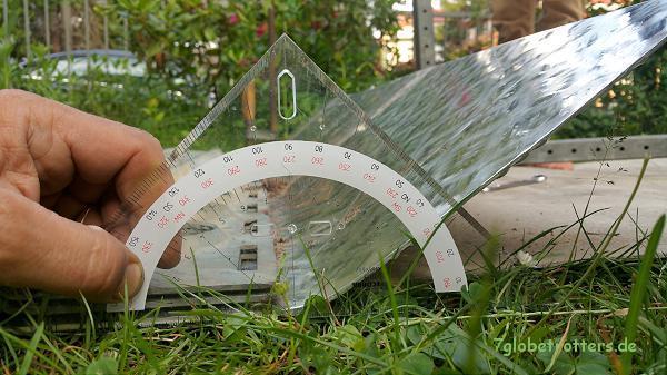 Tropendach selbst bauen: Winkel für die vordere Abkantung am Kastenwagen (25 cm / 30° beim Hochdach)