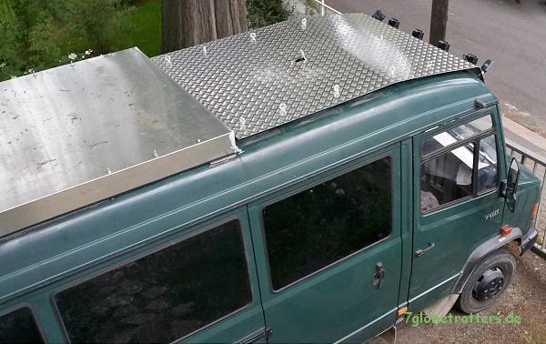 kastenwagen dachgep cktr ger dachscheinwerfer selbst. Black Bedroom Furniture Sets. Home Design Ideas