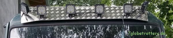 Selbstmontage Tropendach und Dachscheinwerfer auf dem Kastenwagen