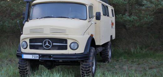 Wunderschöner Mercedes-Benz Kurzhauber MB 710 (A-Modell) mit Einheitskoffer (rund, aber kein Rundhauber!)
